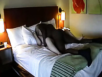 Blonde white wife is cheating with bbc in the hotel