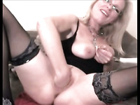 This kinky mature slut truly loves fisting herself and she prefers big sex toys