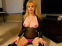This kinky blonde with big tits should have just turned around and smacked him