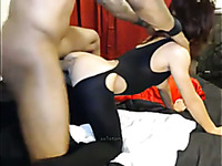 This horny white chick needs some black cock treatment to reach strong orgasms