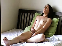 This amateur slut loves the art of self pleasuring and she has no shame