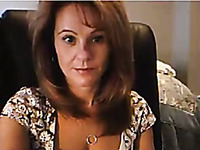 Lewd playful and short haired MILF was kinda playing naughty on webcam