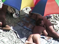 Lusty brunette mature wife is totally busy with sucking cock outdoors