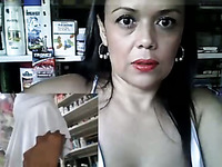 This thick Latina MILF loves acting naughty in public and she loves her dildo
