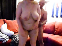 This nasty buxom BBW gets the satisfaction she could never get from a woman