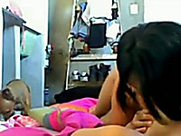 Two college lesbian hotties on webcam showing some ass