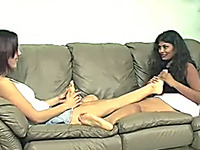 Truly hot lesbian scene and these lesbians love sucking each other's toes