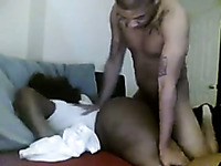 Emotional black lady with huge ass is more than ready for hard doggy