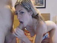 Nasty Blonde Chick Fucked Hard on Cam