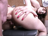 Sex starved nympho opens up her hungry asshole for a hard cock