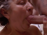 Love how this granny is sucking her husband's dick in the bathtub