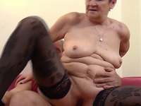 This bodacious granny certainly knows how to ride it reverse cowgirl style