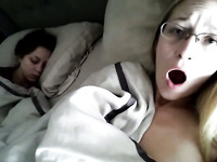 This amateur chick loves to masturbate while her friend is sleeping