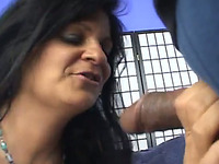 This lewd mature woman loves chocolate cocks and she sure can ride a dick
