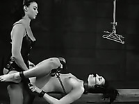 Really kinky black and white video with awesome busty amateur bitches