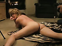 Lewd amateur slender and quite flexible wife gets her wet cunt licked properly