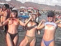 These beach party sluts are super naughty along with being curvy and fit