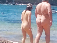 My spy video of horny nudists flashing their nice bubble asses