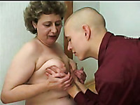 Genuine Russian granny serves me her cunt for missionary quickie