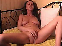 Home alone masturbation solo of my nasty brunette GF