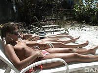 These slender temptresses love sunbathing and they've got amazing bodies