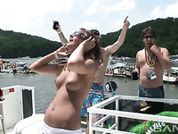 This video is about naughty chicks who loves partying hard on the boats