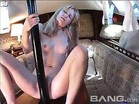 This kinky slut loves big penis shaped objects and she's horny when she's alone