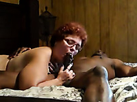 Lewd amateur mature whore provides my buddy's fat BBC with nice head
