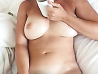 My hot busty wife masturbates every morning and she loves to suck my dick