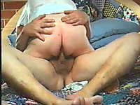 Naughty wife rides my stiff cock in cowgirl position on camera