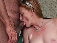 Just my old cougar wife and I enjoying nice day outside