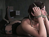 Her ass is so mouth-watering and this submissive slut loves being hogtied