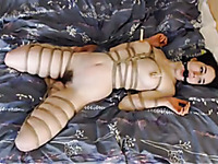 This hot slut loves rope bondage and she loves being whipped on camera