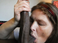 Sometimes a woman just a big black cock to suck on and this slut loves my BBC