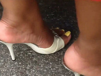 This granny is pervy and raunchy and she likes to show off her feet