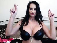 Big tits mature whore is masturbating on webcam for your jerking pleasure