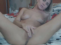 Amazing Cute Tight Blonde Enjoys Fingering Pussy And Ass