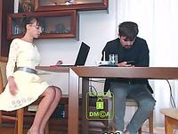 Amateur married couple having sex on webcam