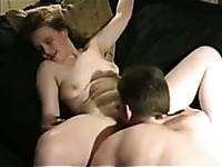 Horny boyfriend licks my pussy like a natural born pussy eater