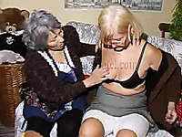 Just really old grannies on the couch masturbating together