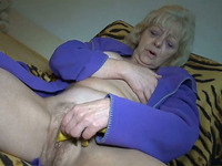 Spoiled granny fingers her fat pussy with great enthusiasm