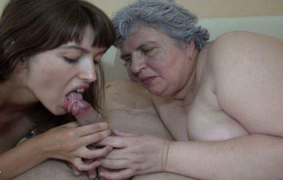 Lustful Granny With Big Tits Takes Part In Ffm Threesome -7463