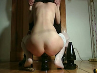 Extreme anal toys for my wife Julia