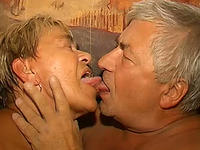 Chubby grandpa is a pussy licker as in good old times
