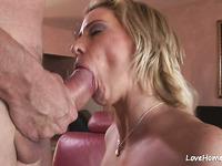 Busty blonde girl is enjoy hard pussy pounding