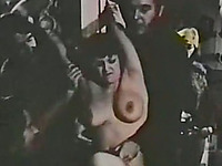 Retro style sex with perverted bikers and horny white bitch