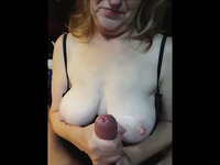 super Handjob my busty wife Megan