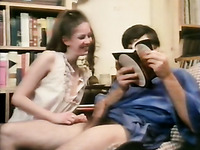Vintage porn compilation with skinny teen and two lesbians