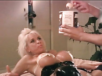 Vintage grey haired busty whore is so into working on stiff dick