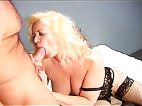 It seems real busty blonde hoe cannot stop sucking strong sloppy cock